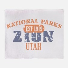 Zion National Park Utah Throw Blanket