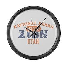 Zion National Park Utah Large Wall Clock