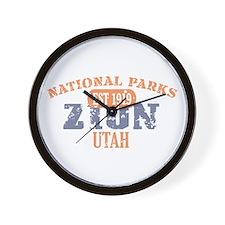 Zion National Park Utah Wall Clock