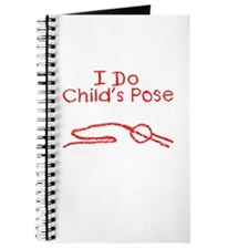 Red Child's Pose Journal