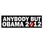 Anybody but Obama Sticker (Bumper)