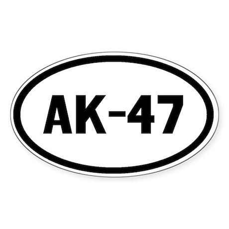 AK-47 Sticker (Oval)