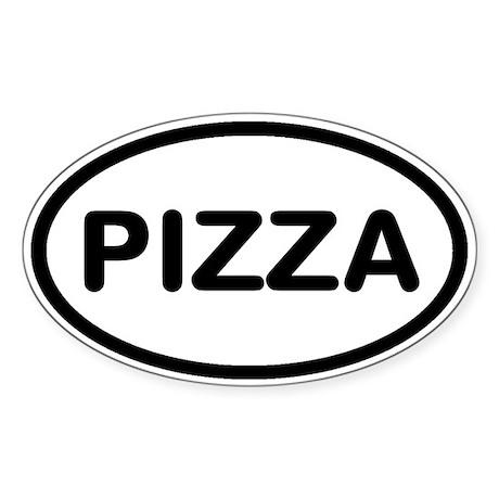 Pizza Sticker (Oval)