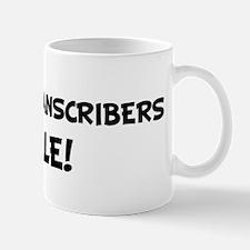 BRAILLE TRANSCRIBERS Rule! Mug
