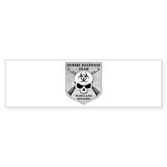 Zombie Response Team: Maryland Division Bumper Sticker