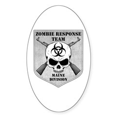 Zombie Response Team: Maine Division Sticker (Oval