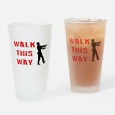 Walk This Way Zombie Drinking Glass