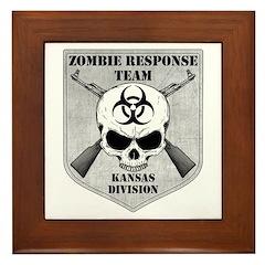 Zombie Response Team: Kansas Division Framed Tile