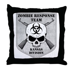 Zombie Response Team: Kansas Division Throw Pillow
