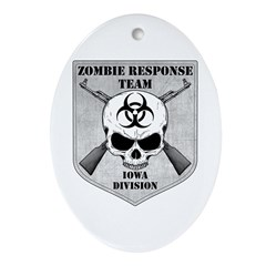 Zombie Response Team: Iowa Division Ornament (Oval