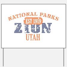 Zion National Park Utah Yard Sign