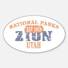 Zion National Park Utah Decal