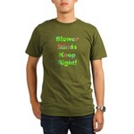 Slower Minds Keep Right Gifts Organic Men's T-Shir