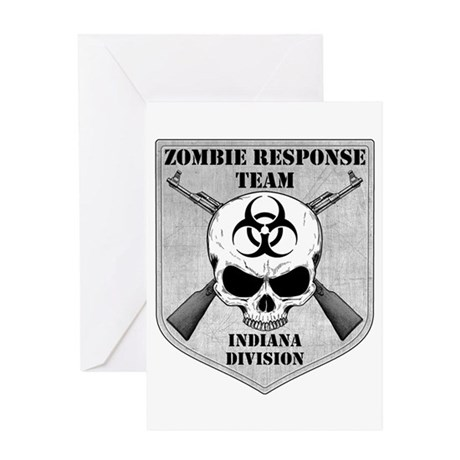 Zombie Response Team: Indiana Division Greeting Ca