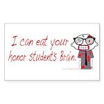 Zombie Nerd. (Honor) Sticker (Rectangle)