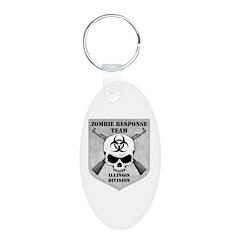 Zombie Response Team: Illinois Division Keychains