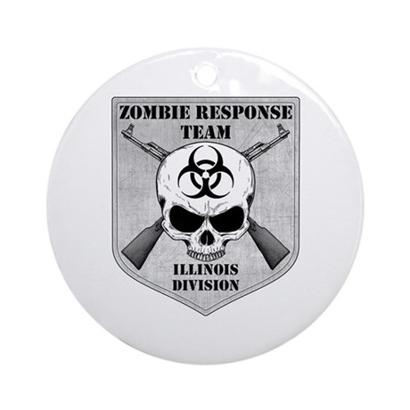 Zombie Response Team: Illinois Division Ornament (