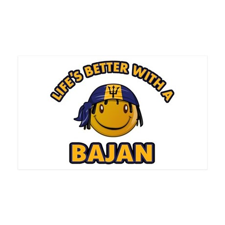 Life's better with a Bajan 38.5 x 24.5 Wall Peel