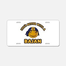 Life's better with a Bajan Aluminum License Plate