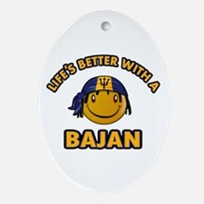 Life's better with a Bajan Ornament (Oval)
