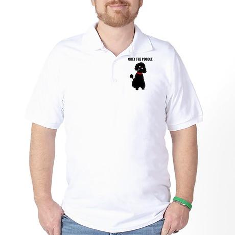 obey_poodle_black2 Golf Shirt