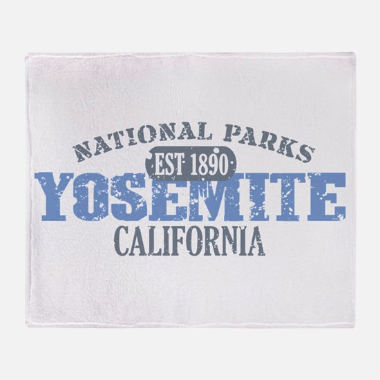 Yosemite National Park Califo Throw Blanket