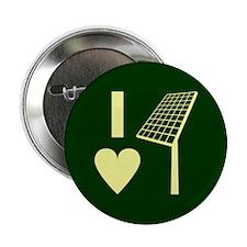 """I Love Solar Energy 2.25"""" Button"""