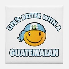 Life's better with a Guatemalan Tile Coaster