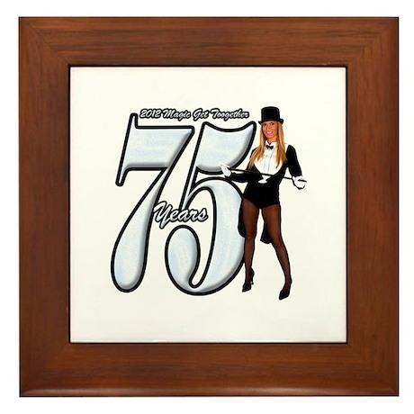 75th Anniversary Home Framed Tile