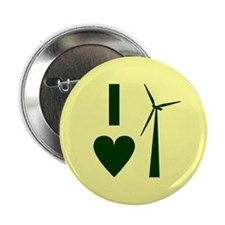 """I Love Wind Energy 2.25"""" Button"""