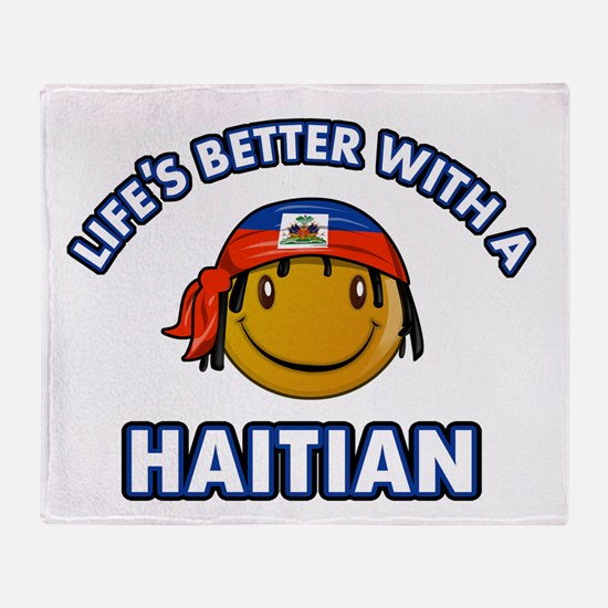 Life's better with a Haitian Throw Blanket