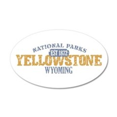 Yellowstone National Park WY 22x14 Oval Wall Peel