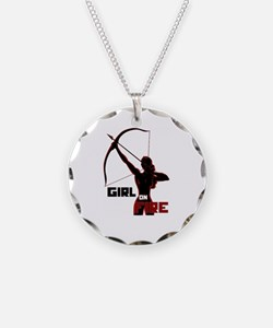 Katniss Girl on Fire Necklace