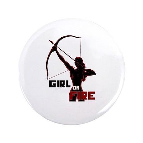 "Katniss Girl on Fire 3.5"" Button (100 pack)"
