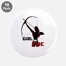 "Katniss Girl on Fire 3.5"" Button (10 pack)"