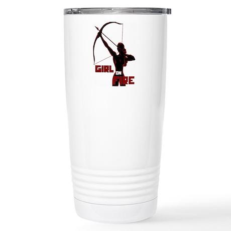 Katniss Girl on Fire Stainless Steel Travel Mug