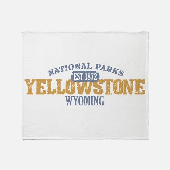 Yellowstone National Park WY Throw Blanket
