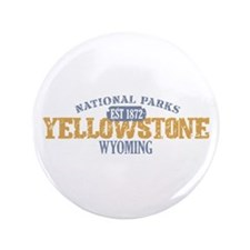 """Yellowstone National Park WY 3.5"""" Button"""