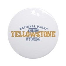 Yellowstone National Park WY Ornament (Round)