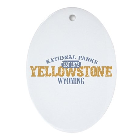 Yellowstone National Park WY Ornament (Oval)