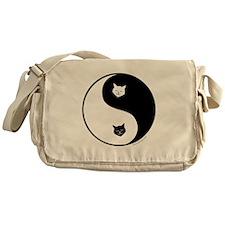 yin yang meow Messenger Bag