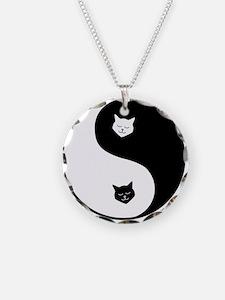yin yang meow Necklace
