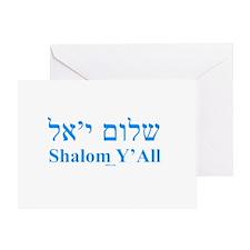 Shalom Y'All English Hebrew Greeting Card