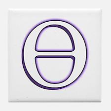 Theta Symbol Tile Coaster