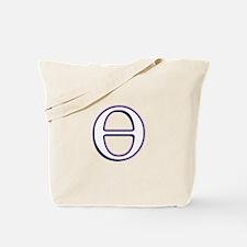 Theta Symbol Tote Bag