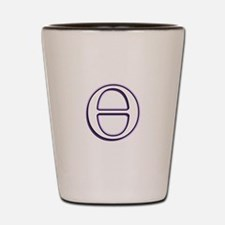 Theta Symbol Shot Glass