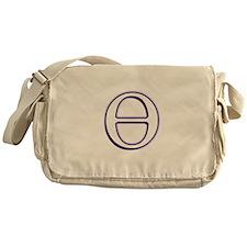 Theta Symbol Messenger Bag