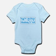 Shalom Y'All English Hebrew Infant Bodysuit