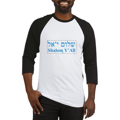 Shalom Y'All English Hebrew Baseball Jersey