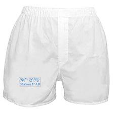 Shalom Y'All English Hebrew Boxer Shorts